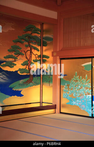 Japan, Kumamoto, Castle, Honmaru Goten Palace, interior, - Stock Photo
