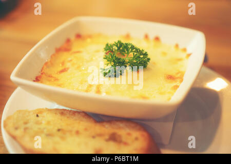 Spinach with cheese - Stock Photo