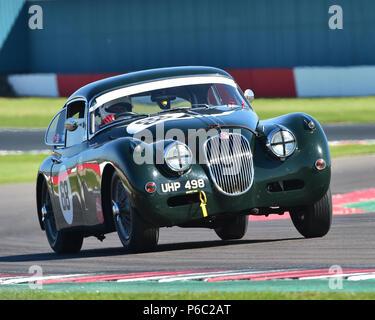 Marc Gordon, Jaguar XK150, Stirling Moss Trophy, pre-61 sports cars, Donington Historic Festival, May 2018, motor racing, motor sport, motorsport, Nos - Stock Photo