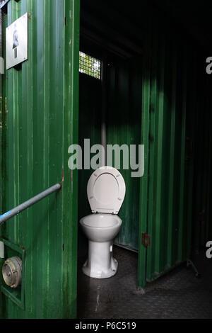 Berlin, Germany - public ladies toilet - Stock Photo