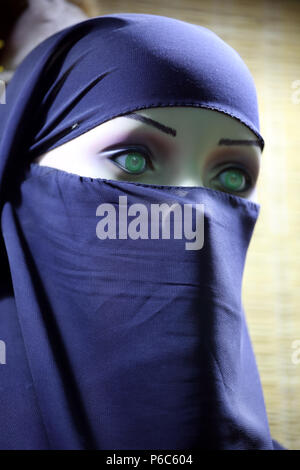 24.03.2017, Dubai, United Arab Emirates, mannequin wears a niqab - Stock Photo