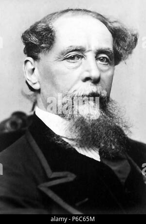 CHARLES DICKENS (1812-1870) English author and writer while on his second visit America in 1867-1868. - Stock Photo