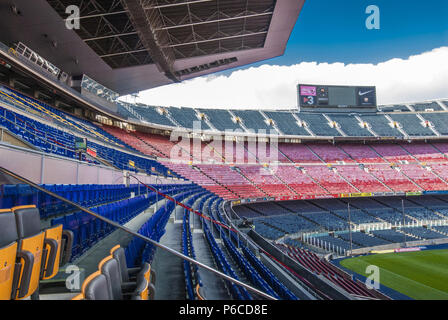 Spain, Catalonia, Barcelona, Camp Nou stadium, FC Barcelona football team - Stock Photo
