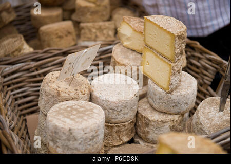 France, Auvergne, Artisous cheese - Stock Photo
