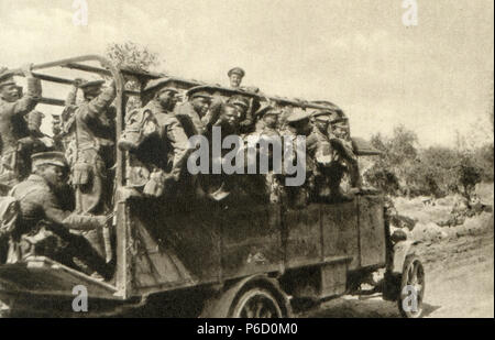 world war i, British soldiers, Colonial troops, ww1, wwi, world war one - Stock Photo