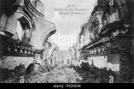 Español: Ruinas de la iglesia de La Recolección a principios del siglo XX. Colección de Ana Aguirre. 1910 60 LaRecoleccion1910