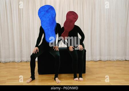 New York, NY, USA. 29th June, 2018. Cast of Mummenschanz in attendance for MUMMENSCHANZ Debut New Show 'you and me', Pearl Studios, New York, NY June 29, 2018. Credit: Jason Smith/Everett Collection/Alamy Live News