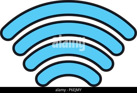 color digital wifi signal connection technology - Stock Photo
