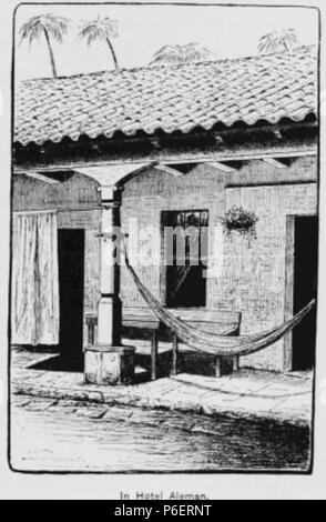 Español: Grabado del libro Guatemala, the land of quetzal de William T. Brigham, publicado en 1887. Hotel Alemán de Cobán en 1884. 1884 50 Guatemala land quetzal Brigham 1887 23 - Stock Photo
