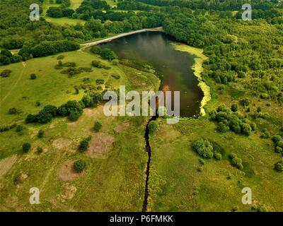Aerial photography of a city parks Birmingham England - Stock Photo