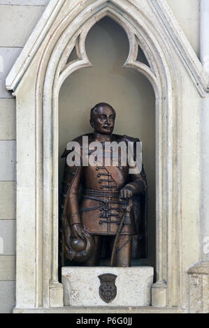Count Josip Jelacic, statue in Zagreb cathedral dedicated to the Assumption of Mary - Stock Photo