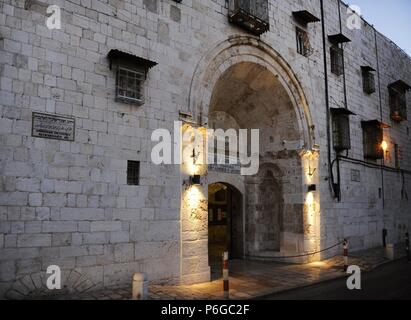 Israel. Jerusalem. Cathedral of Saint James, 12th century, headquarters of the Armenian Patriarchate of Jerusalem. Armenian Quarter. Exterior. - Stock Photo