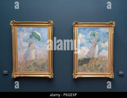 Woman with umbrella by Renoir - Stock Photo