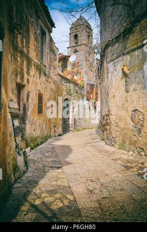 Italy. Campania. Caserta. Center Town of Caserta Vecchia. - Stock Photo