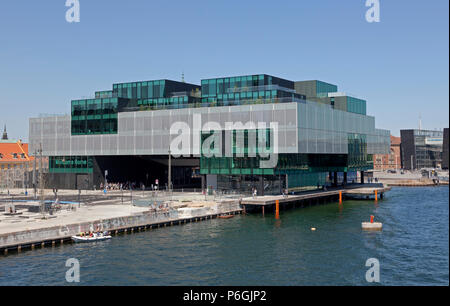 The BLOX building, a new prestige building for architecture and design on Christians Brygge at the waterfront at Frederiksholm Canal. - Stock Photo