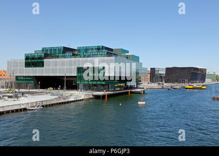 The BLOX building, a new prestige building for architecture and design on Christians Brygge in Copenhagen. Also housing the Danish Architecture Centre - Stock Photo