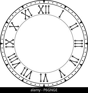 Blank Clock which is a round clock face with dash marks showing no
