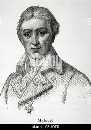 Pierre Victor, baron Malouet (1740 Ð 1814). French slave-owner, conservative publicist and monarchist politician. Engraving. Historia Universal, 1881. - Stock Photo