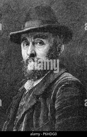 Adolf Mannchen (1860-1920). German painter. Engraving. La Ilustracion Artistica, 1899. - Stock Photo