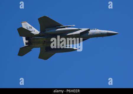 USAF McDonnell Douglas F-15C Fighter Jet - Stock Photo