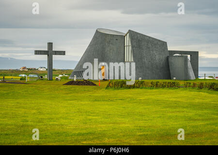 Blonduos church In Iceland - Stock Photo