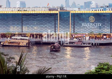 River City shopping mall on Chao Phraya river, Bangkok, Thailand - Stock Photo