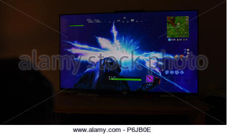 30th June 2018, England  The hit online computer game Fortnite had a
