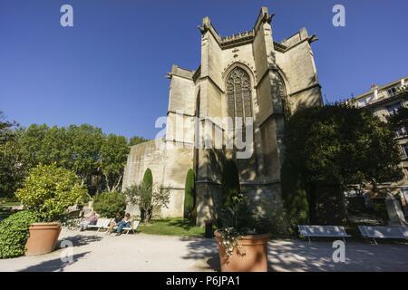 Temple Saint Martial,antiguo palacio de la reina Juana de Nápoles, condesa de Provenza, Avignon, Francia, Europa. - Stock Photo