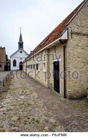 Hervormde Kerk (Reformed Church) Bourtange - Stock Photo