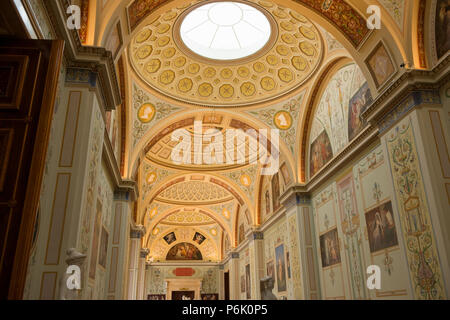 SAINT PETERSBURG, RUSSIA - AUGUST 18, 2017: Interior of State Hermitage in St.Petersburg, Russia. State Hermitage was founded in 1764. Now it is large - Stock Photo
