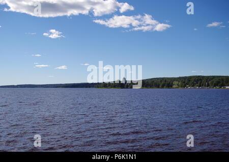 Lake siljan in the province of Dalarna - Stock Photo