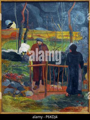 ARTE SIGLO XIX. FRANCIA. PAUL GAUGUIN (París, 1848-Atuona, Islas Marquesas, 1903). Pintor postimpresionista francés. Bonjour, Monsieur Gauguin, 1889. Galería Nacional de Praga. República Checa.