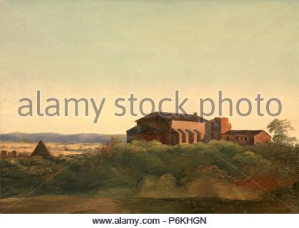 A View of the Church of S. Sabina and the Pyramid of Cestius, Rome, Charles Lock Eastlake, 1793-1865, British. - Stock Photo