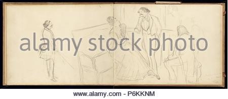 Soirée; Edgar Degas, French, 1834 - 1917; about 1877. - Stock Photo