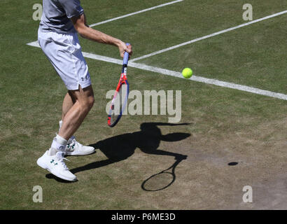 London, UK. 30th June, 2018. Andy Murray practices on the Saturday before The Championship start at Wimbledon. Wimbledon Pre-Tournament Saturday, wimbledon, London, on June 30, 2018. Credit: Paul Marriott/Alamy Live News - Stock Photo