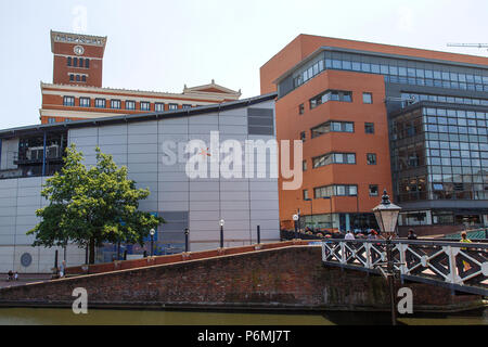 Birmingham, UK: June 29, 2018: The National SEA LIFE Centre is an aquarium with over 60 displays of freshwater and marine life in Brindley Place. - Stock Photo
