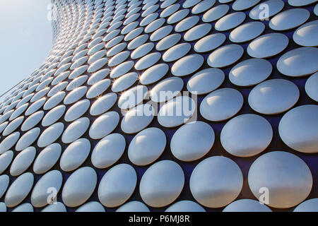 Birmingham, UK: June 29, 2018: Selfridges is one of Birmingham city's most distinctive and iconic landmarks and part of the Bullring Shopping Centre. - Stock Photo