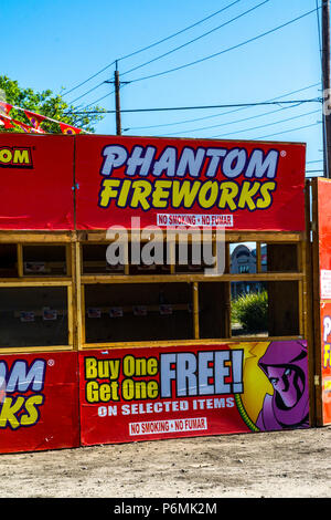 A legal fireworks stand in Modesto California USA for the