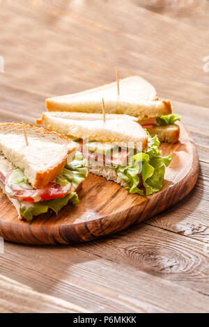 Picture of sandwiches with toothpicks - Stock Photo