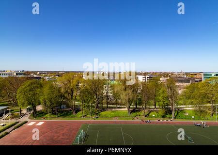 Football field in Tallin, Estonia - Stock Photo