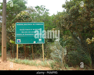 Comboios Biological Reserve, Atlantic Forest, Linhares, Aracruz, Espirito Santo, Brazil. - Stock Photo