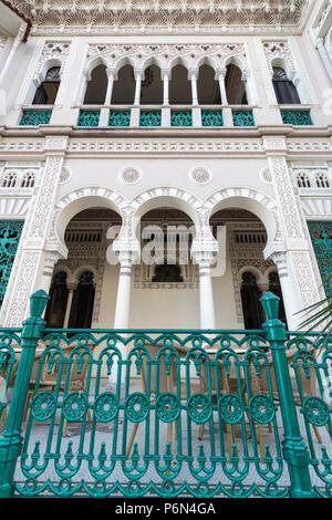 Exterior view of Palacio de Valle, Valle's Palace, in Punta Gorda, Cienfuegos, Cuba. - Stock Photo