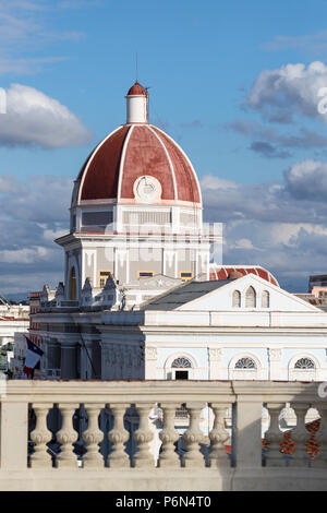 The rotunda of the Antiguo Ayuntamiento, home of the provincial government building in Cienfuegos, Cuba - Stock Photo