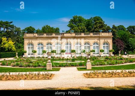 The Orangery within Parc de Bagatelle in Paris, France - Stock Photo