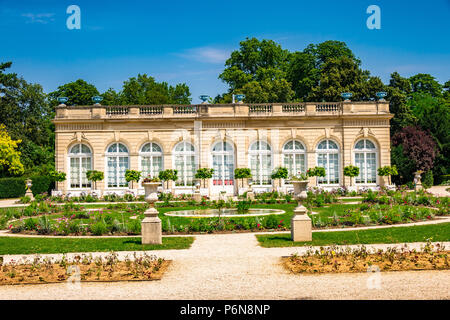 The Orangery within Parc de Bagatelle in Paris, France - Stock Photo