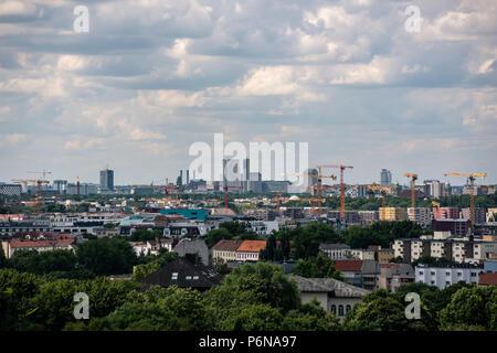 BERLIN, GERMANY, JUNE 26, 2018: Berlin (west Berlin) skyline. - Stock Photo