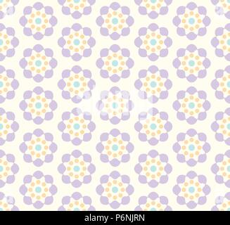 Violet sweet blossom pattern in pastel background. Vintage flower seamless pattern style for cute or modern design. - Stock Photo