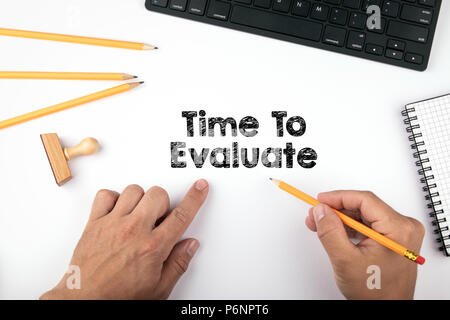 Time To Evaluate - Stock Photo