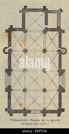 1920-06, Boletín de la Sociedad Española de Excursiones, Villamorón, planta de la iglesia, Vicente Lampérez. - Stock Photo