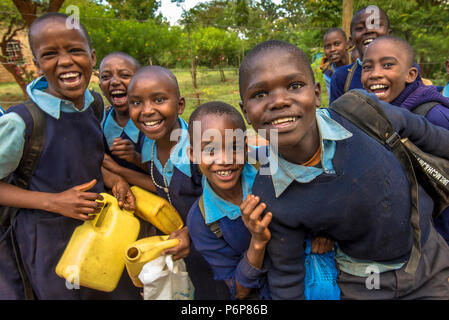 Machakos schoolchildren, Kenya. - Stock Photo